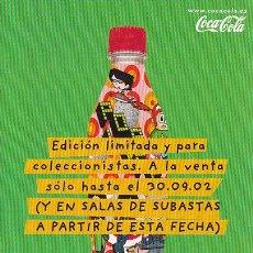 Coleccionismo de Coca-Cola y Pepsi: POSTAL PROMOCIONAL DE COCA-COLA, NUEVAS BOTELLAS. Lote 34347583