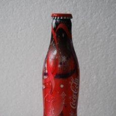 Coleccionismo de Coca-Cola y Pepsi: BOTELLA COCA COLA ALUMINIO 250 ML. EDICIÓN LIMITADA NAVIDAD 2005 Ó 2006. CON CHAPA Y LLENA. Lote 35881786