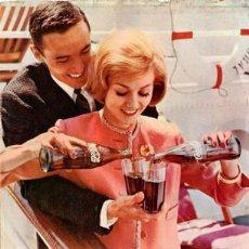 Coleccionismo de Coca-Cola y Pepsi: PÁGINA PUBLICIDAD ORIGINAL *COCA-COLA · UN VIAJE MÁS GRATO* DE AGENCIA PUBLICIDAD CLARIN -- AÑO 1962. Lote 36059527