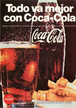 PÁGINA PUBLICIDAD ORIGINAL *COCA-COLA* PATATAS FRITAS - AÑO 1968 (Coleccionismo - Botellas y Bebidas - Coca-Cola y Pepsi)