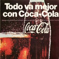 Coleccionismo de Coca-Cola y Pepsi: PÁGINA PUBLICIDAD ORIGINAL *COCA-COLA* PATATAS FRITAS - AÑO 1968. Lote 36179838
