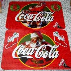Coleccionismo de Coca-Cola y Pepsi: JUEGO DE 2 SALVAPLATOS INDIVIDUALES DE COCA COLA, CON DIBUJO DE PAPA NOEL Y MOTIVOS NAVIDEÑOS. Lote 36374534