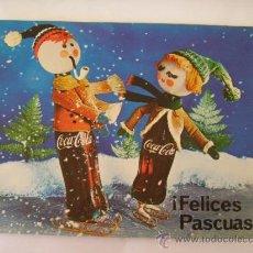 Coleccionismo de Coca-Cola y Pepsi: COCA COLA FELICITACIÓN NAVIDAD CHRISTMAS PASCUAS ORIGINAL AÑO 1965 MALAGA ÚNICA EN TODOCOLECCIÓN. Lote 44096426