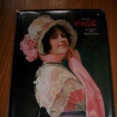 Coleccionismo de Coca-Cola y Pepsi: CARTEL DE CHAPA DE COCA COLA - 21 X 15 CM. Lote 36817804
