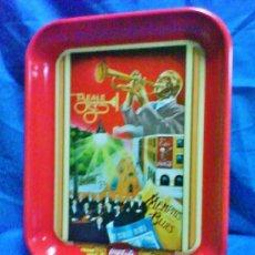 Coleccionismo de Coca-Cola y Pepsi: BANDEJA METAL - COCA-COLA - REPRODUCCION OFICIAL - EEUU - BEALE STREET / MUSICA - VER FOTOS. Lote 36946398