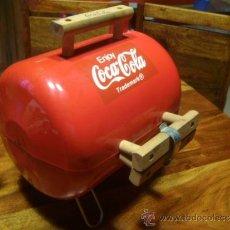 Coleccionismo de Coca-Cola y Pepsi: BARBACOA COCA COLA CHAPA HIERRO COMPLETA PARA ESTRENAR - UNA JOYA !!! - UNICO EN VENTA. Lote 37068966