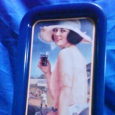 Coleccionismo de Coca-Cola y Pepsi: BANDEJA METAL - COCA-COLA - OFICIAL / EEUU - PINK CALENDAR GIRL - VER FOTO - AÑO 1991. Lote 37074767