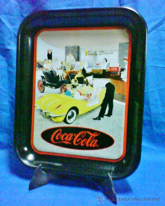 BANDEJA METAL - COCA-COLA - OFICIAL / EEUU - FAMILY DRIVE-IN - VER FOTO - AÑO 1995 (Coleccionismo - Botellas y Bebidas - Coca-Cola y Pepsi)