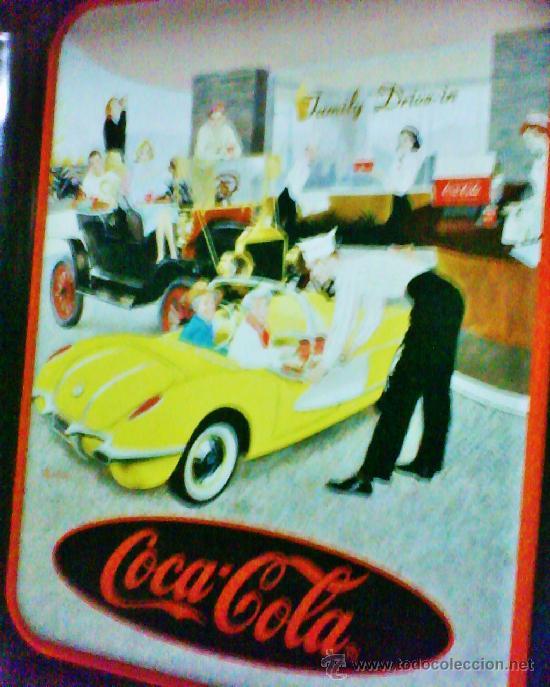 Coleccionismo de Coca-Cola y Pepsi: bandeja metal - coca-cola - oficial / eeuu - family drive-in - ver foto - año 1995 - Foto 2 - 37133545