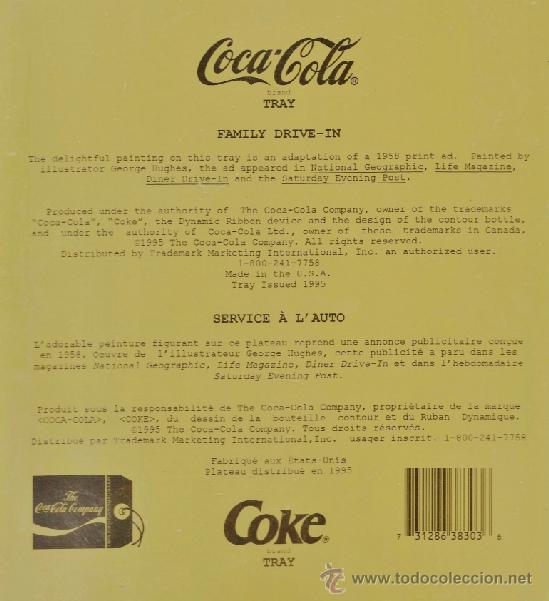 Coleccionismo de Coca-Cola y Pepsi: REVERSO DE LA BANDEJA - Foto 3 - 37133545