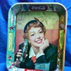 Coleccionismo de Coca-Cola y Pepsi: BANDEJA METAL - COCA-COLA - OFICIAL / EEUU - HAVE A COKE / THIRST KNOWS - VER FOTO - AÑOS 90. Lote 37133554
