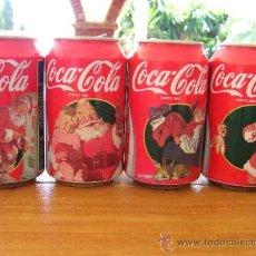 Coleccionismo de Coca-Cola y Pepsi: COCA COLA LATAS VACIAS COLECCION COMPLETA PAPA NOEL SUNBLOD NAVIDAD 1995. Lote 45590812