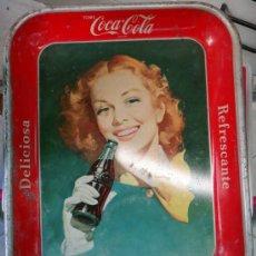 Coleccionismo de Coca-Cola y Pepsi: CHAPA ORIGINAL DE COCA COLA, AÑOS 40-50 , TIPO BANDEJA, PROCEDE USA, VER FOTOS, ORIGINAL, RB. Lote 37380611