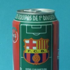 Coleccionismo de Coca-Cola y Pepsi: BOTE COCA COLA. ESCUDO DEL F.C. BARCELONA LIGA 96-97. Lote 37575373