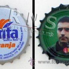 Coleccionismo de Coca-Cola y Pepsi: ANTIGUA CHAPA FANTA NARANJA CON FOTO DE MOLINA POR DETRÁS AÑOS 90 GRUPO COCA COLA FÚTBOL DEPORTE. Lote 37541658