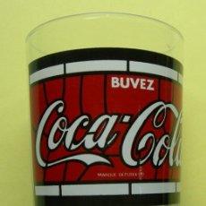 Coleccionismo de Coca-Cola y Pepsi: VASO DE CRISTAL. COCA COLA. FRANCIA. BUVEZ. Lote 37779835