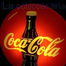 Coleccionismo de Coca-Cola y Pepsi: GIGANTESCO CARTEL LUMINOSO DE 85 CMTS DIAMETRO METACRILATO PRECIOSO. Lote 38108718
