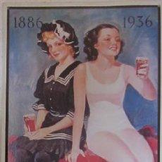 Coleccionismo de Coca-Cola y Pepsi: CARTEL METALICO COCA COLA, 50 ANNIVERSARY, REPRODUCCION AÑO 93. Lote 38193892