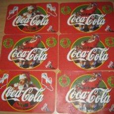 Coleccionismo de Coca-Cola y Pepsi: 6 MANTELES INDIVIDUALES DE COLECCIÓN, DE PLÁSTICO DE COCA COLA CON MOTIVOS DE PAPA NOËL. UNOS VEINTE. Lote 38919438