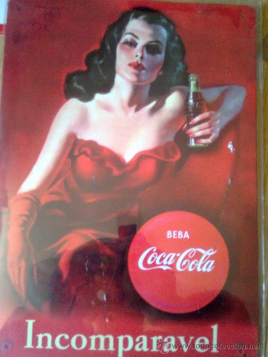 Preciosa placa chapa cartel de metal coca cola comprar - Chapa coca cola pared ...