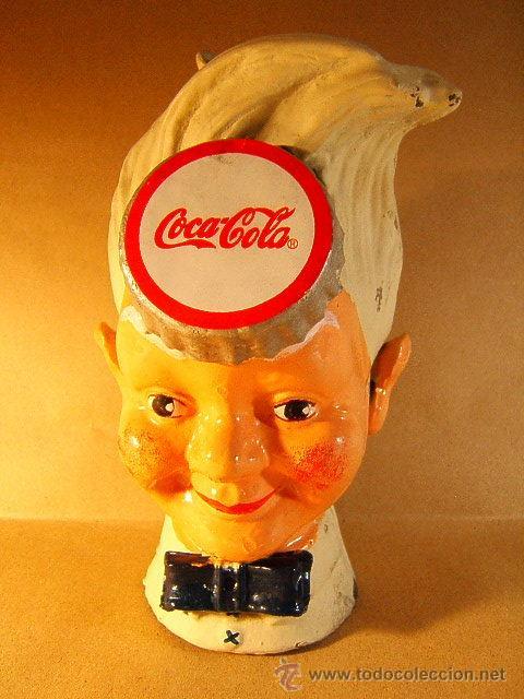 COCA COLA COKE+HUCHA HIERRO COLADO LACADO+MONEY BOX IRON LACQUERED DIFFERENT OTHER+1940/1950 ?. (Coleccionismo - Botellas y Bebidas - Coca-Cola y Pepsi)