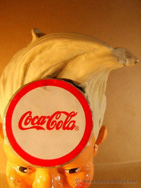 Coleccionismo de Coca-Cola y Pepsi: COCA COLA COKE+HUCHA HIERRO COLADO LACADO+MONEY BOX IRON LACQUERED DIFFERENT OTHER+1940/1950 ?. - Foto 3 - 39185310