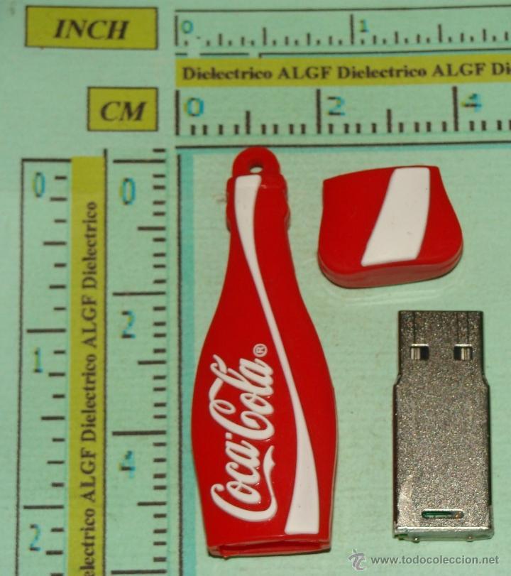 Coleccionismo de Coca-Cola y Pepsi: BONITO PENDRIVE USB, FORMA DE BOTELLA DE COCA COLA. LEER DESCRIPCION. - Foto 3 - 39579201
