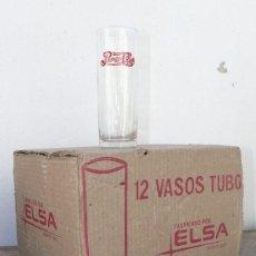 Coleccionismo de Coca-Cola y Pepsi: UNICO!! 12 VASO VASOS ANTIGUOS PEPSI COLA CAJA ORIGINAL AÑOS 50 60 BALEARES BARCELONA . Lote 39649613
