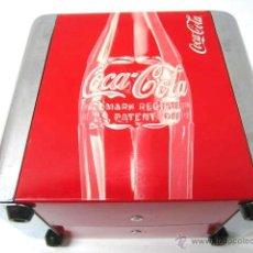 Coleccionismo de Coca-Cola y Pepsi: SERVILLETERO DOBLE COCA COLA COKE CHAPA METAL. Lote 39811110