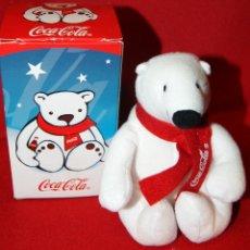 Coleccionismo de Coca-Cola y Pepsi: OSO POLAR, OSITO DE PELUCHE PROMOCION DE COCA COLA, COCACOLA, CON CAJA DE ORIGEN, AÑO 2003/2005.. Lote 162304393