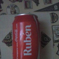 Coleccionismo de Coca-Cola y Pepsi: LATA COCA COLA NOMBRE RUBEN. VACÍA.. Lote 40146912