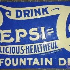 Coleccionismo de Coca-Cola y Pepsi: PEPSI CARTEL METALICO 35X15 AÑO 93, MADE IN USA. Lote 42384143