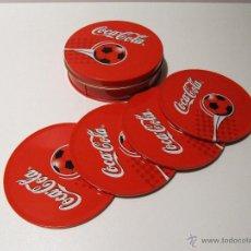 Coleccionismo de Coca-Cola y Pepsi: CAJA METALICA CON POSAVASOS COCA-COLA. Lote 41382198