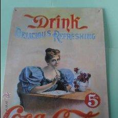 Coleccionismo de Coca-Cola y Pepsi: PLACA DE LA CASA COCA COLA 35 X 25 CTROS. . Lote 37450337