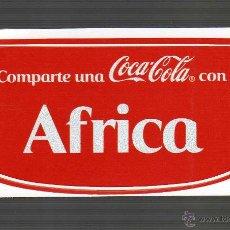 Coleccionismo de Coca-Cola y Pepsi: ETIQUETA ADHESIVA PERSONALIZADA - COMPARTE UNA COCA-COLA CON ÁFRICA -. Lote 41843915