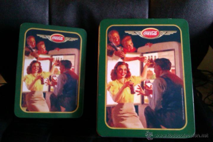 OCASION DE 2 LATAS O CAJAS METALICAS DE COCA COLA GRANDE Y PEQUEÑA VINTAGE (Coleccionismo - Botellas y Bebidas - Coca-Cola y Pepsi)