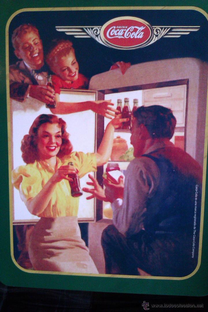 Coleccionismo de Coca-Cola y Pepsi: OCASION DE 2 LATAS o CAJAS METALICAS DE COCA COLA GRANDE Y PEQUEÑA VINTAGE - Foto 2 - 42172659