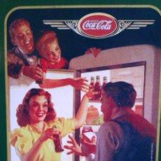 Coleccionismo de Coca-Cola y Pepsi: OCASION DE 2 LATAS O CAJAS METALICAS DE COCA COLA GRANDE Y PEQUEÑA VINTAGE. Lote 42172659