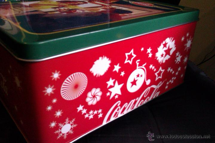 Coleccionismo de Coca-Cola y Pepsi: OCASION DE 2 LATAS o CAJAS METALICAS DE COCA COLA GRANDE Y PEQUEÑA VINTAGE - Foto 3 - 42172659