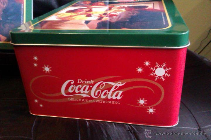 Coleccionismo de Coca-Cola y Pepsi: OCASION DE 2 LATAS o CAJAS METALICAS DE COCA COLA GRANDE Y PEQUEÑA VINTAGE - Foto 4 - 42172659