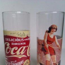Coleccionismo de Coca-Cola y Pepsi: 2 VASOS VINTAGE DE COCA COLA 100% ORIGINALES MUY BONITOS. Lote 52920040