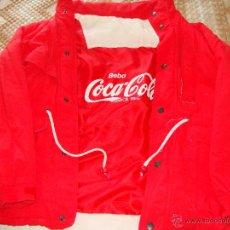 Coleccionismo de Coca-Cola y Pepsi: BONITO ABRIGO CHAQUETA CAZADORA DE COCA COLA. AÑOS 80. Lote 42443394