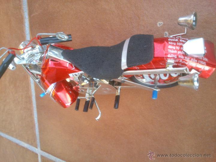 Moto de chapa lata de coca comprar - Chapa coca cola pared ...