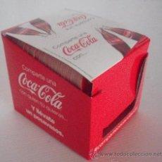 Coleccionismo de Coca-Cola y Pepsi: CAJA POSAVASOS NOMBRES COCA COLA 88 NOMBRES DISTINTOS NUEVOS TODOS. Lote 43012573