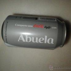 Coleccionismo de Coca-Cola y Pepsi: LATA COCA COLA NOMBRE ABUELA VACIA COCACOLA. Lote 43014382