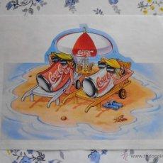 Coleccionismo de Coca-Cola y Pepsi: PEGATINA COCACOLA TROQUELADA. Lote 43215941