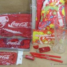 Coleccionismo de Coca-Cola y Pepsi: LOTE 9 ARTICULOS PROMOCION COCA-COLA - VASO,BOLSA,ADORNOS,BOLI,LECTOR TARJETA ...ETC COKE COCACOLA. Lote 43618581