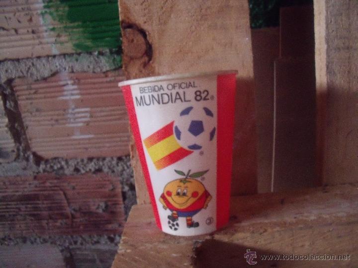 COCACOLA VASO COCA COLA DEL MUNDIAL 82 NARANJITO (Coleccionismo - Botellas y Bebidas - Coca-Cola y Pepsi)