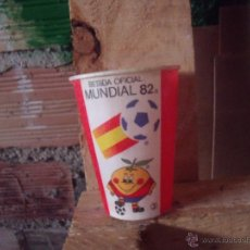 Coleccionismo de Coca-Cola y Pepsi: COCACOLA VASO COCA COLA DEL MUNDIAL 82 NARANJITO. Lote 43760583