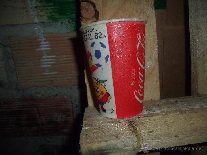 Coleccionismo de Coca-Cola y Pepsi: COCACOLA VASO COCA COLA DEL MUNDIAL 82 NARANJITO - Foto 2 - 43760583